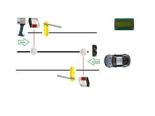 Si se activa el  switch  alarma el motor que controla la barrera de salida se activara