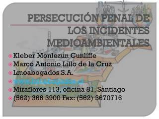Kleber Monlezun Cunliffe Marco Antonio Lillo de la Cruz Lmoabogados S.A. lmoabogados.cl
