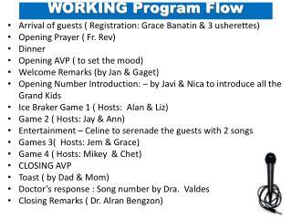 WORKING Program Flow