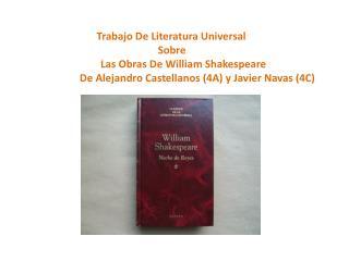 Trabajo De Literatura Universal                                 Sobre