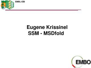 Eugene Krissinel  SSM - MSDfold