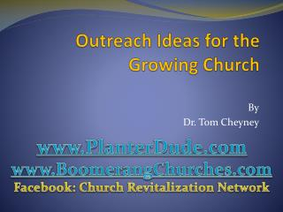 Outreach Ideas for the Growing Church