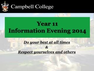 Year 11 Information Evening 2014