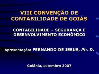 VIII CONVENÇÃO DE CONTABILIDADE DE GOIÁS