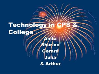 Technology in CPS & College