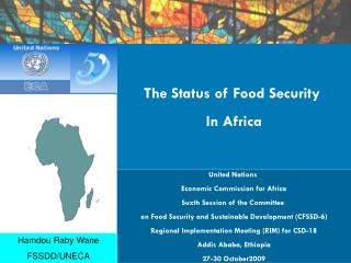 The Status of Food Security  In Africa