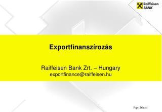 Exportfinansz�roz�s