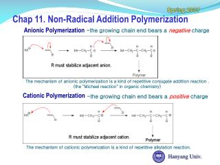 Chap 11. Non-Radical Addition Polymerization
