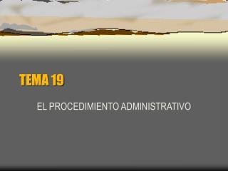 TEMA 19