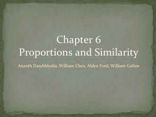 Chapter 6  Proportions and Similarity