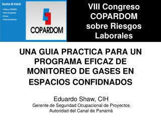 UNA GUIA PRACTICA PARA UN PROGRAMA EFICAZ DE  MONITOREO DE GASES EN  ESPACIOS CONFIDNADOS