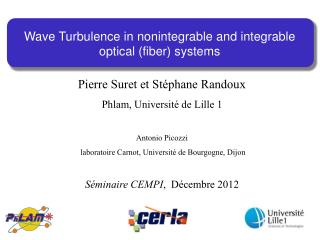 Wave Turbulence in  nonintegrable  and  integrable  optical (fiber) systems
