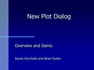 New Plot Dialog