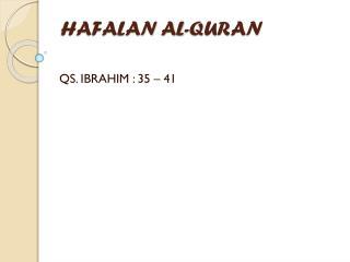 HAFALAN AL-QURAN