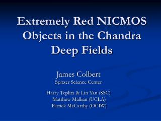 Extremely Red NICMOS Objects in the Chandra Deep Fields