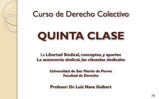 CONCEPTO DE LIBERTAD SINDICAL