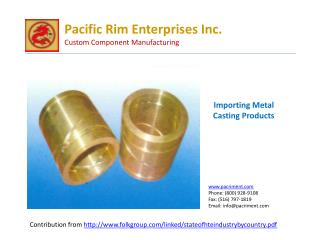Benefirs of outsurcing Metal casting products