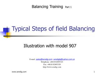 Typical Steps of field Balancing