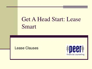 Get A Head Start: Lease Smart