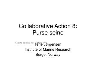 Collaborative Action 8: Purse seine