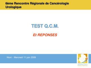 6ème Rencontre Régionale de Cancérologie Urologique