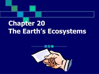 Chapter 20  The Earth�s Ecosystems