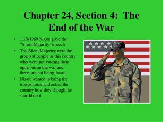 Chapter 24, Section 4:  The End of the War