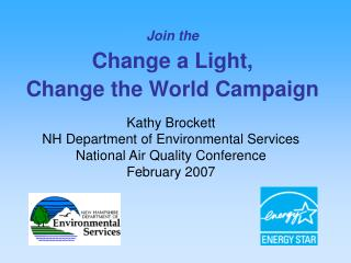Join the Change a Light,  Change the World Campaign