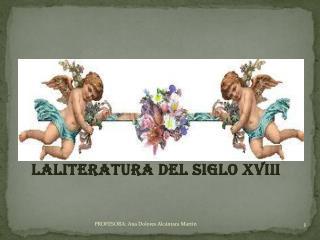 LALITERATURA DEL SIGLO XVIII