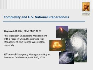 Complexity and U.S. National Preparedness