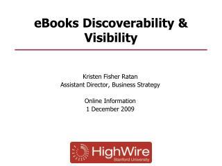 eBooks Discoverability & Visibility