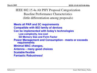 Meets all PAR and 5C requirements Compatible with 802 family of devices
