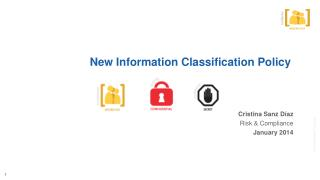 New Information Classification Policy