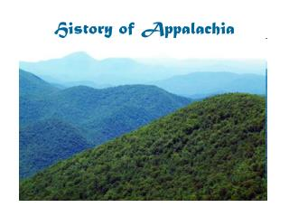 History of Appalachia