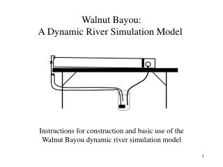 Walnut Bayou: A Dynamic River Simulation Model