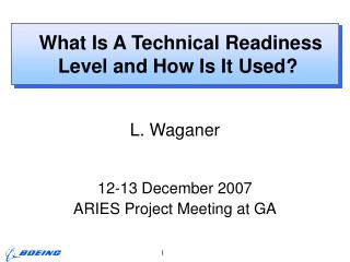 What Is A Technical Readiness Level and How Is It Used