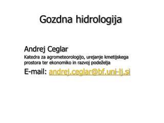 Gozdna hidrologija