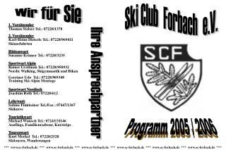Programm 2005 / 2006