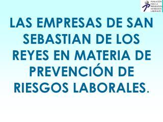 LAS EMPRESAS DE SAN SEBASTIAN DE LOS REYES EN MATERIA DE PREVENCIÓN DE RIESGOS LABORALES .