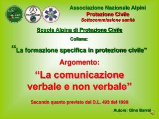 """Collana: """" La formazione specifica in protezione civile"""""""