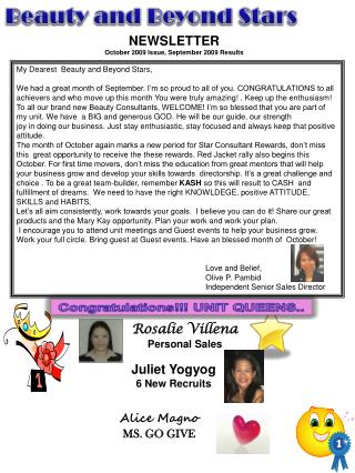 Rosalie Villena Personal Sales