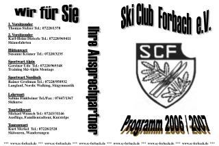 Programm 2006 / 2007