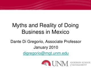 Myths and Reality of Doing Business in Mexico