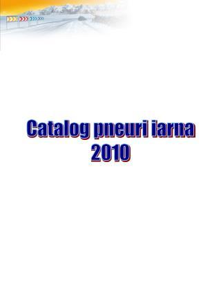 Catalog pneuri iarna 2010