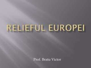 Relieful europei