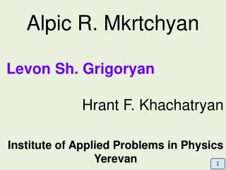 Institute of Applied Problems in Physics Yerevan