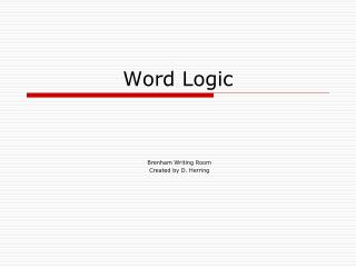 Word Logic