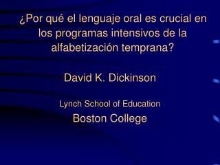 Por qu  el lenguaje oral es crucial en los programas intensivos de la alfabetizaci n temprana
