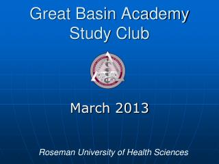 Great Basin Academy  Study Club