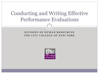 Conducting and Writing Effective Performance Evaluations